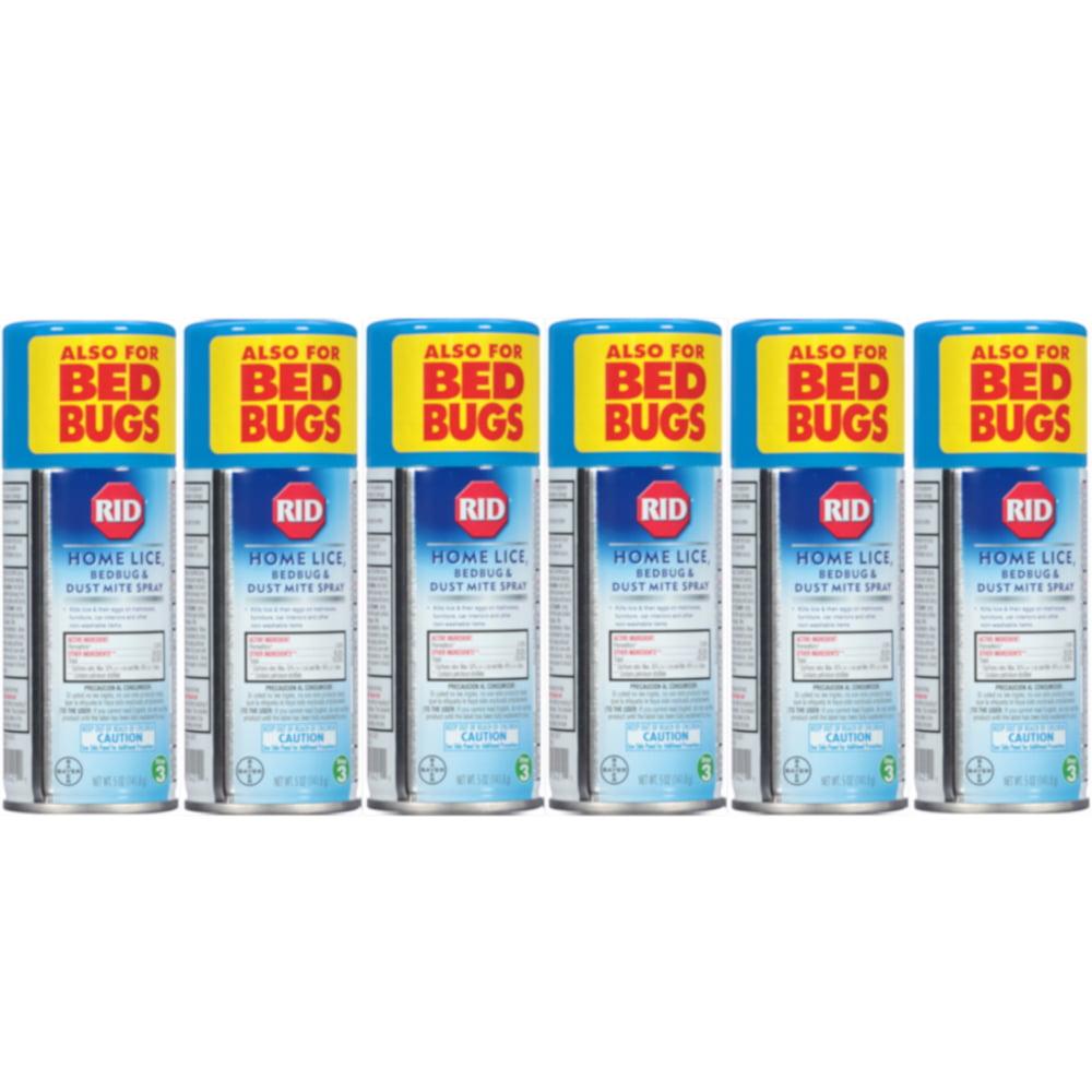 6 Pack RID Step 3 Home Lice, Bedbug & Dust Mite Spray 5 oz (141.8 g) Each