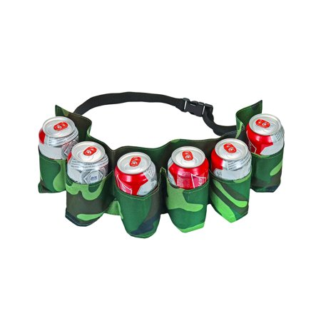 Fairly Odd Novelties 6 Pack Beer and Soda Can Holster Belt Camouflage - Duffman Beer Belt