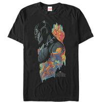 marvel men's black panther 2018 artistic pattern t-shirt
