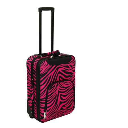 Zebra Print 20 Rolling Carry-On Luggage Suitcase