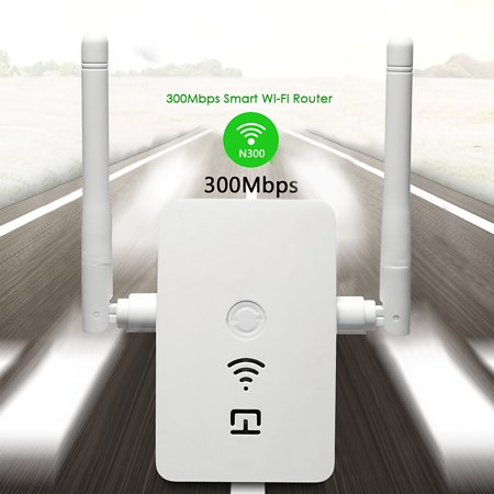 300Mbps Wireless-N WiFi 802 11n/b/g Range Extender WLAN Repeater Signal  Booster Network Router Dual Antenna to Smart Home WiFi Coverage