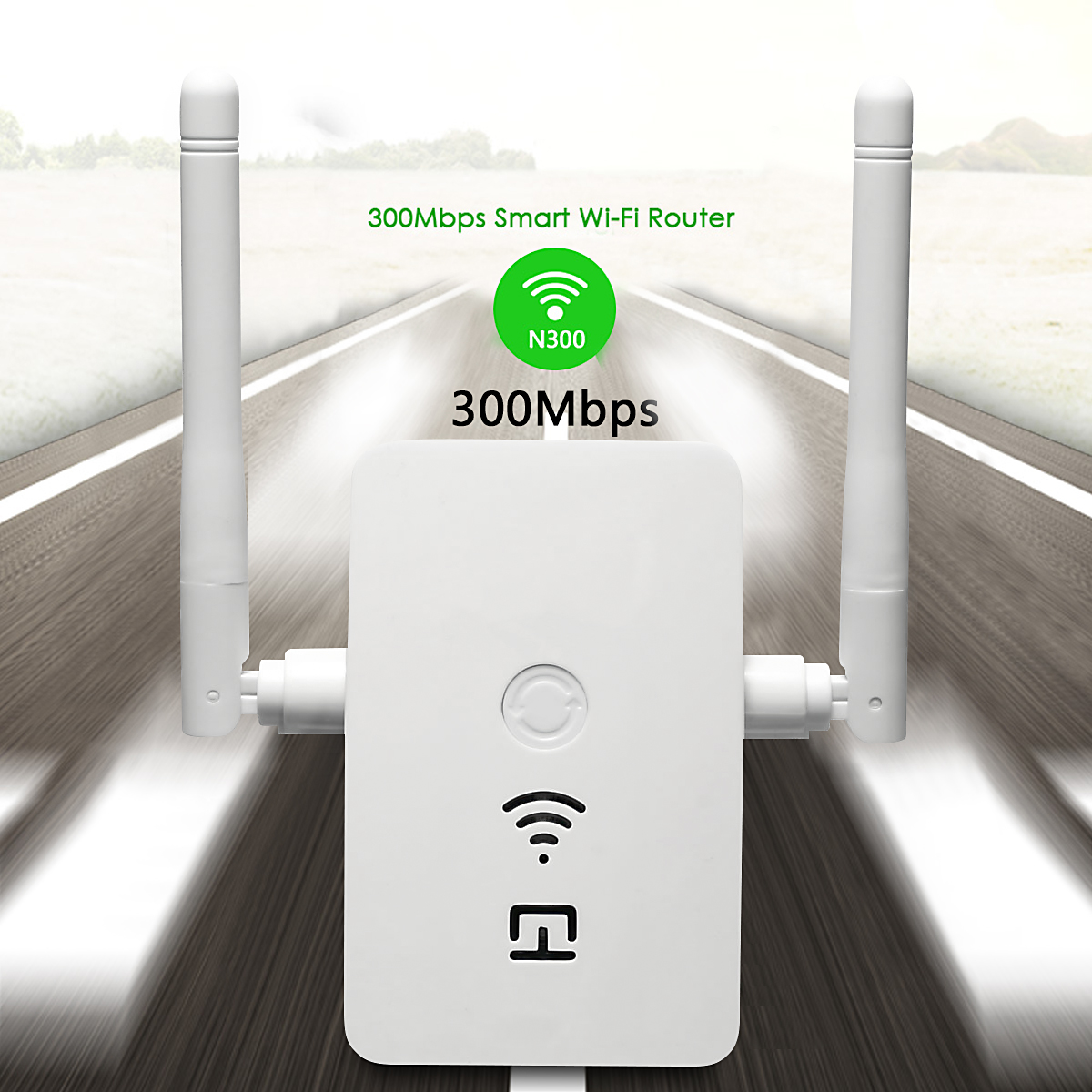 300Mbps Wireless-N WiFi 802.11n/b/g Range Extender WLAN Repeater Signal Booster Network Router Dual Antenna to Smart Home WiFi Coverage