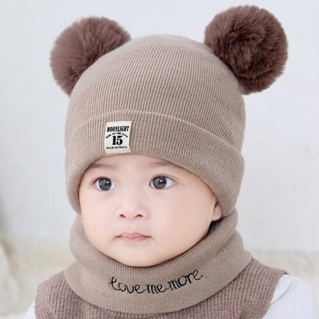 8e1c3a43e Baby Hats Winter Clearance- New Autumn Winter Christmas Hat Baby Boys Girls  Hat Warm Windproof Wool Hat Toddler Kids Children's Lovely Cute Soft Beanie  Hat ...