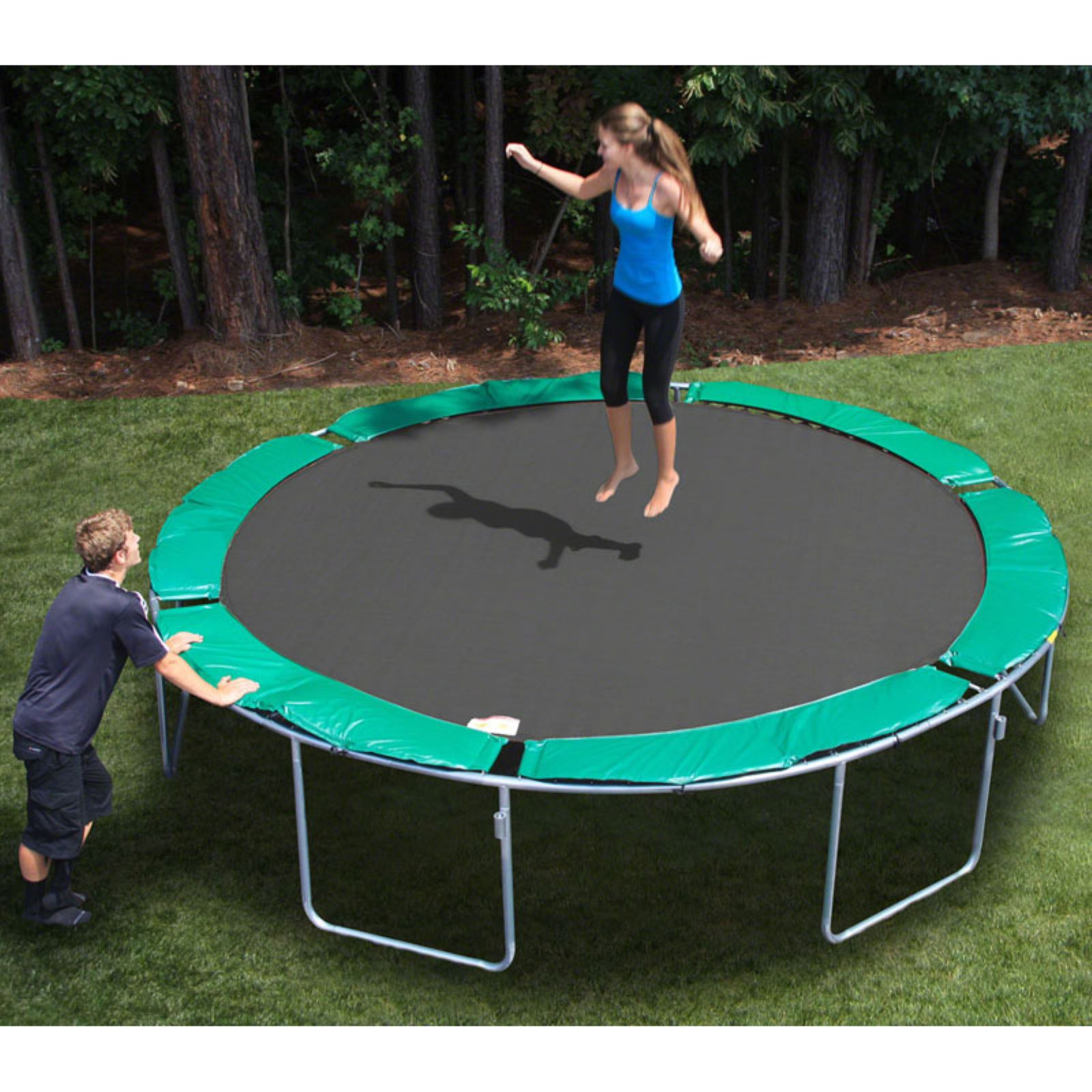 Kidwise Magic Circle Round 13.5-ft. Trampoline