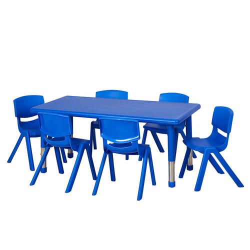 ECR4Kids 7 Piece Rectangular Activity Table U0026 10u0027u0027 ...