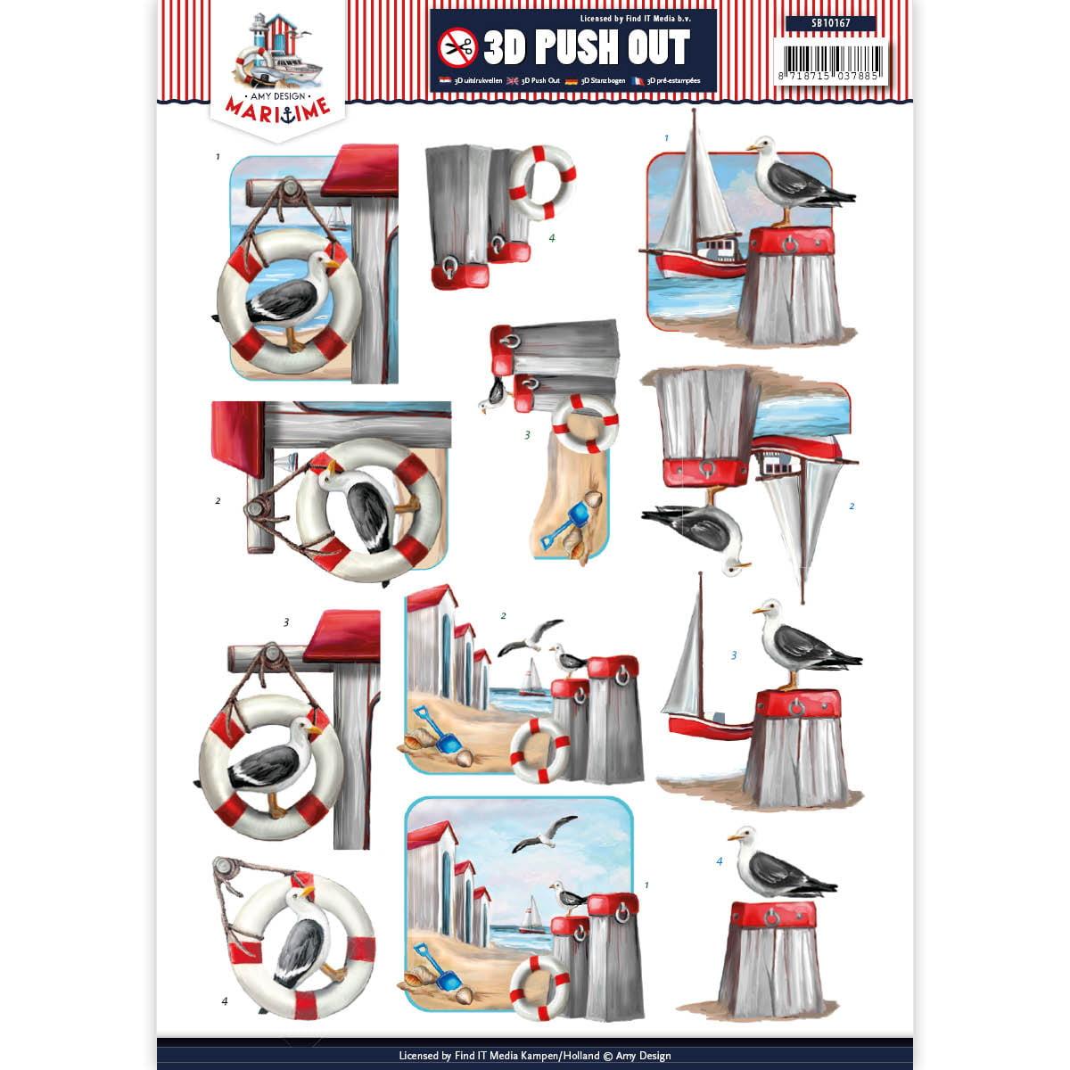 Find It Amy Design Maritime Punchout Sheet-Maritime #2