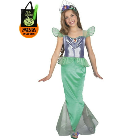 The Little Mermaid Ariel Disney Child Standard Costume Treat Safety Kit - Safety Costume