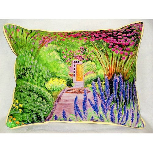 Betsy Drake Interiors Garden Door Indoor/Outdoor Lumbar Pillow
