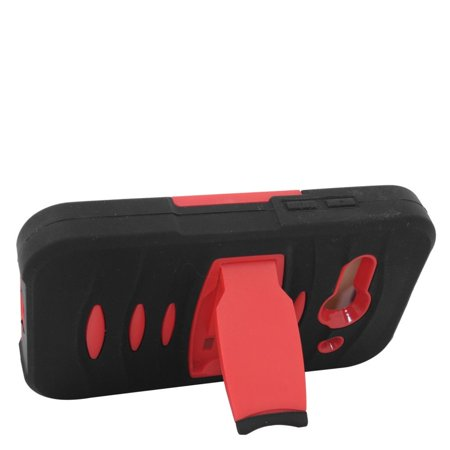 Insten Rubber Dual Layer Hard Case with stand For Alcatel One Touch Evolve 2 - Black/Red - image 1 de 3