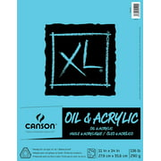 """Canson XL Acrylic Art Pad for Acrylic or Oil Paint, 11"""" x 14"""", 24 Sheet"""