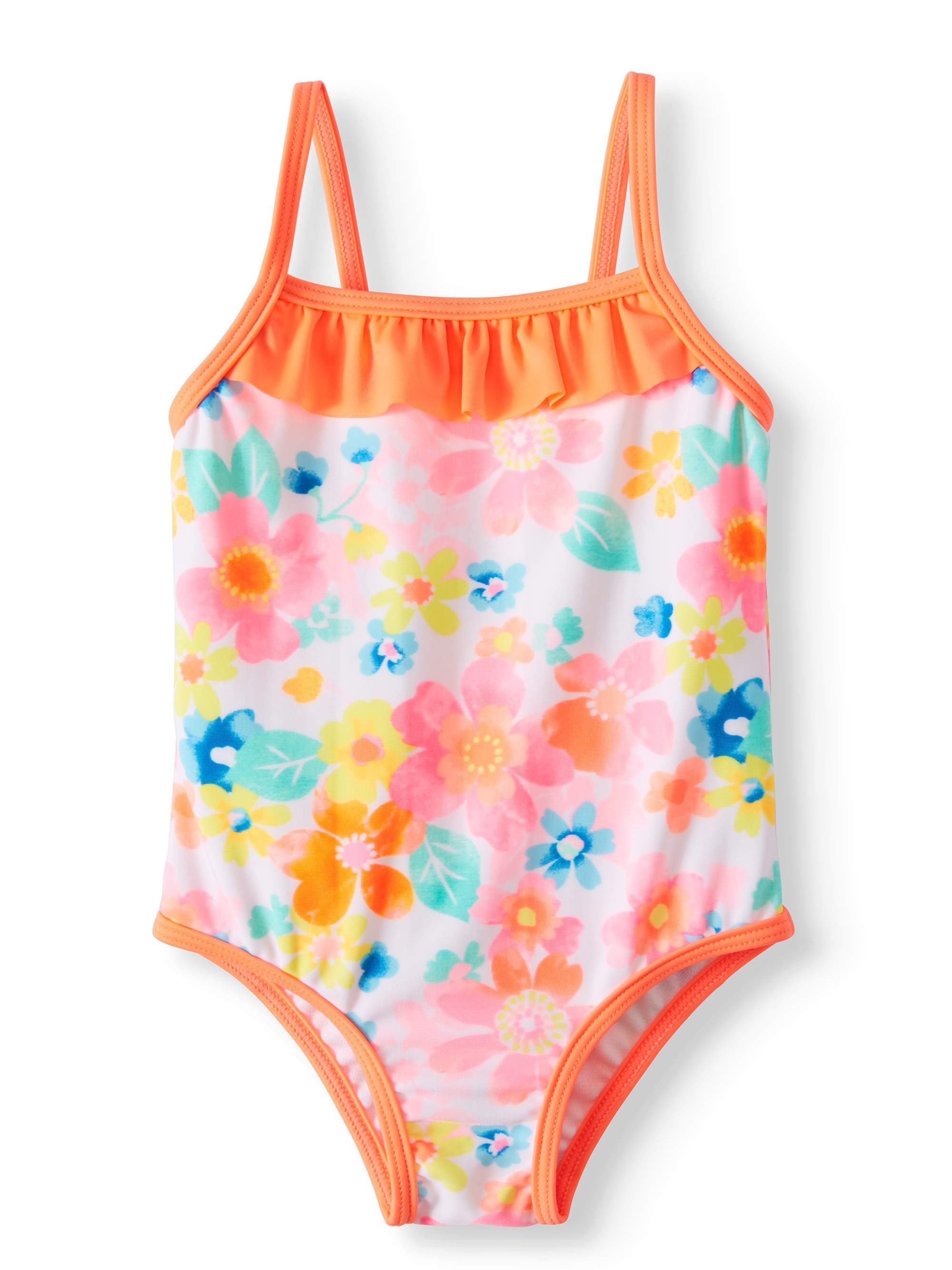 Floral One Piece Swimsuit (Baby Girls)