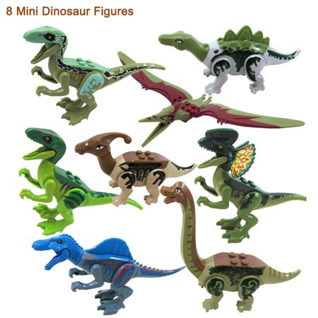 8Pcs Kids Building Blocks Park Dinosaur Toys World Dinosaur Christmas birthday gifts for your boy girl - Prank Toys For Sale