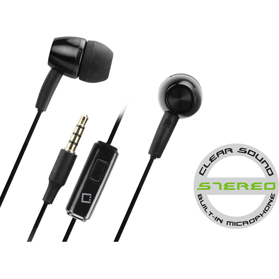 Cellet 3.5mm Hands Free Stereo Earphones with Microphone, Black