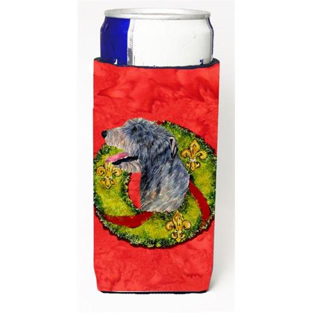Irish Wolfhound Cristmas Wreath Michelob Ultra bottle sleeves For Slim Cans - image 1 de 1
