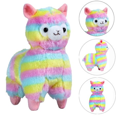 18CM Colorful Kawaii Alpaca Llama Arpakasso Soft Plush Toy Doll Gift Cute Toys - Llama Stuffed Animal