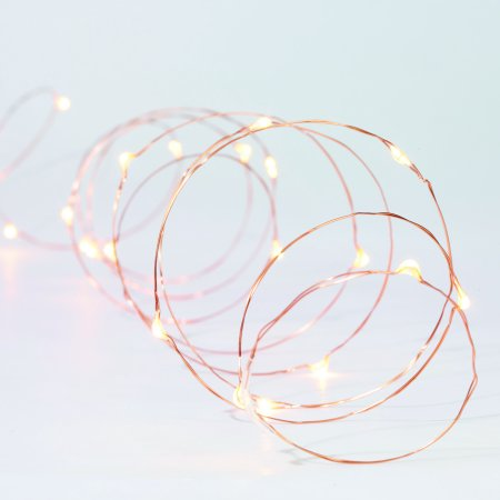 Better Homes & Gardens 12.45' Warm White Mini LED String Light Wire, 36 Count