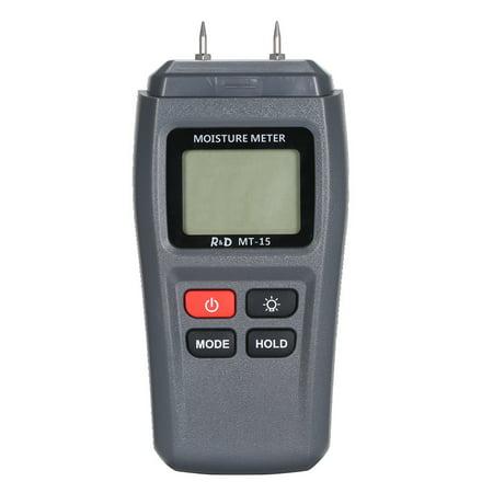 MT-15 Digital Wood Moisture Meter Handheld LCD Lumber Damp Detector Portable Timber Humidity Content Tester Range 1%~99% with 2 Pin Probe - image 4 de 7