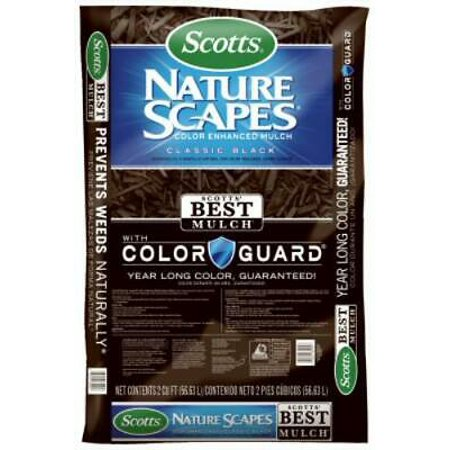 2PK Nature Scapes 2 CUFT Color Enhanced Classic Black Mulch