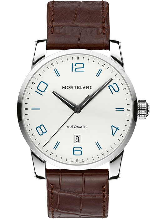 Montblanc Timewalker 110338 42mm Automatic Stainless Steel Case Brown Leather Anti-Reflective Sapphire Men's Watch