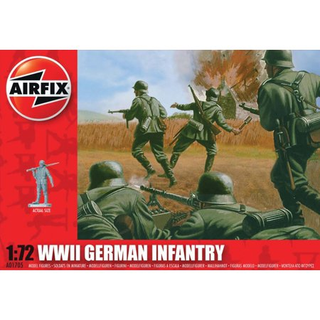 Airfix WWII German Infantry Figures 1:72 Military Soldiers Plastic Model Kit
