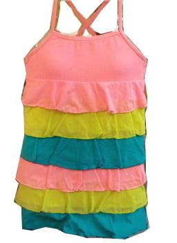 Tiered Girls Swim Coverup Dress - NEW! 4T
