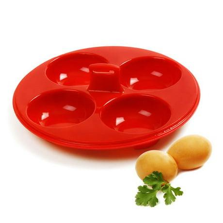 Norpro egg poacher insert 4 silicone for Decor 4 egg poacher