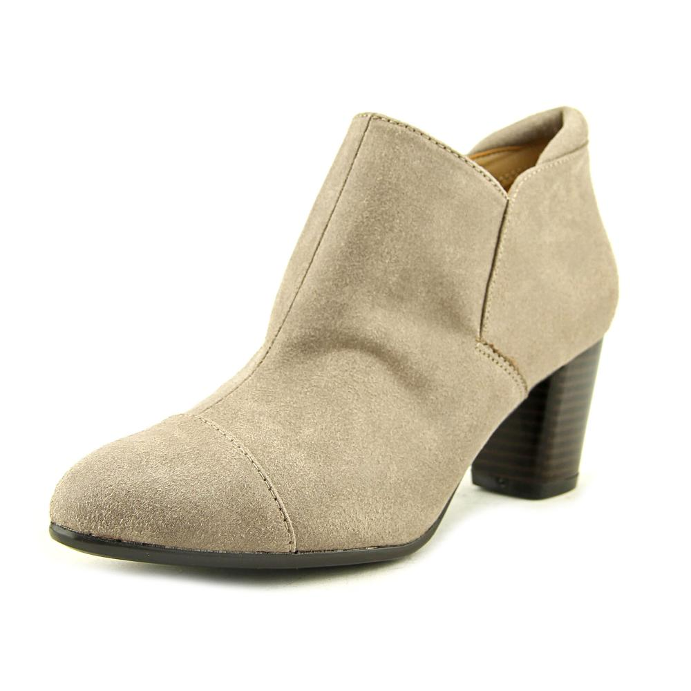 Naturalizer Neebo Women Round Toe Canvas Tan Bootie by Naturalizer