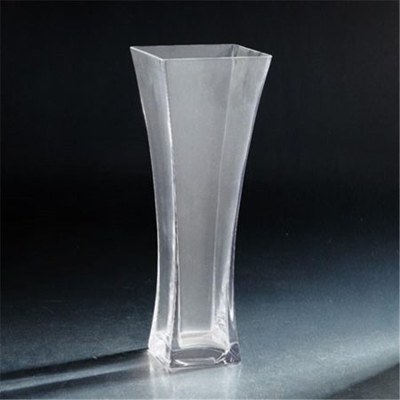 Diamond Star 64034 14 X 5 X 5 In  Flared Square Glass Vase  Clear