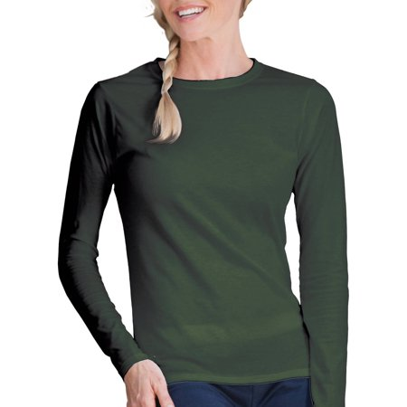 Fitted Cowl - Gildan Softstyle Women's Fitted Long Sleeve T-Shirt