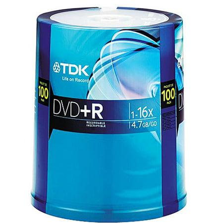 TDK 16x DVD+R Discs, 100-Pack ()