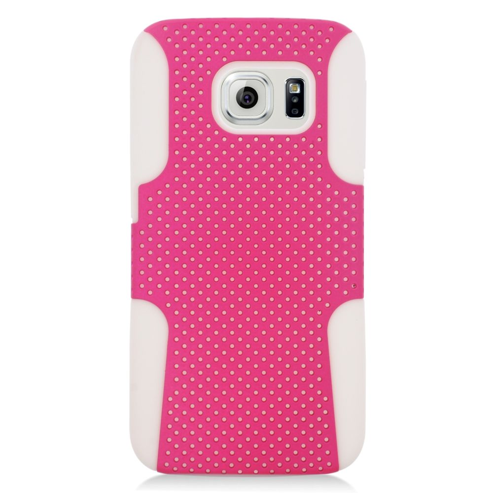 Insten Astronoot Hard Dual Layer TPU Case For Samsung Galaxy S6 Edge - Hot Pink/Black - image 2 of 3