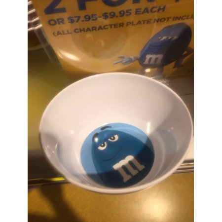 M&M's World Blue Character Bowl Big Face New