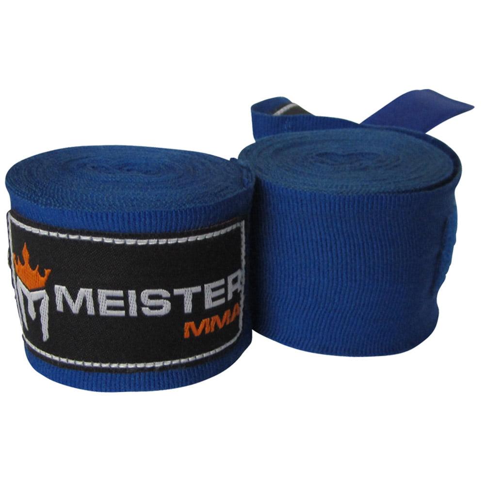 "Meister 180"" Semi-Elastic MMA Hand Wraps (Pair) - Blue"