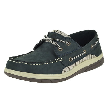 Island Surf Co Helm Lite Navy Mens Boat Shoes Size