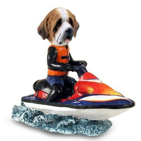 NO.DOOG31203 Saint Bernard w/Rough Coat Jet Ski Doogie Collectable Figurine