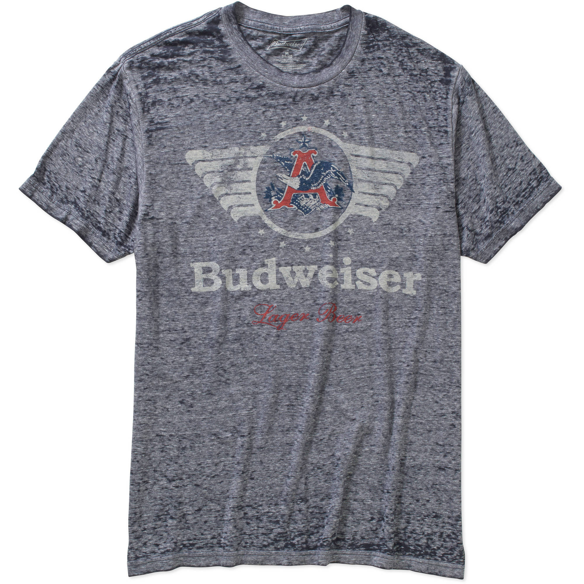 Budweiser Wings Vintage Wash Heather Men's Graphic Tee