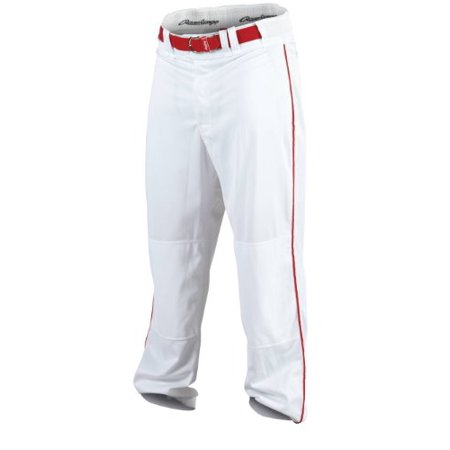 Men's Baseball Pant (White/Scarlet Large)