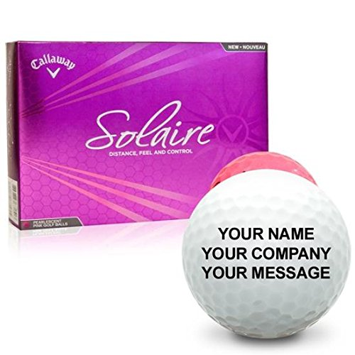 Callaway Golf Solaire Pink Personalized Golf Balls