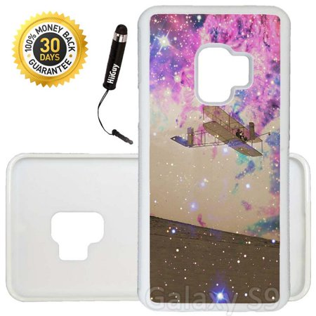 Custom Galaxy S9 Case (Wright Brothers First Flight to Space) Edge-to-Edge Rubber White Cover Ultra Slim | Lightweight | Includes Stylus Pen by Innosub