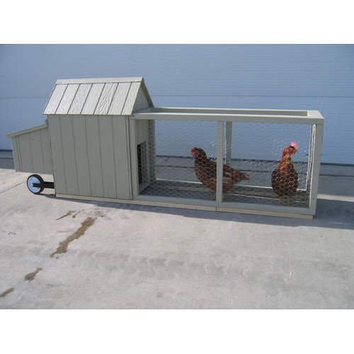Little Cottage Company Berlin Chicken Tractor with Chicken Run