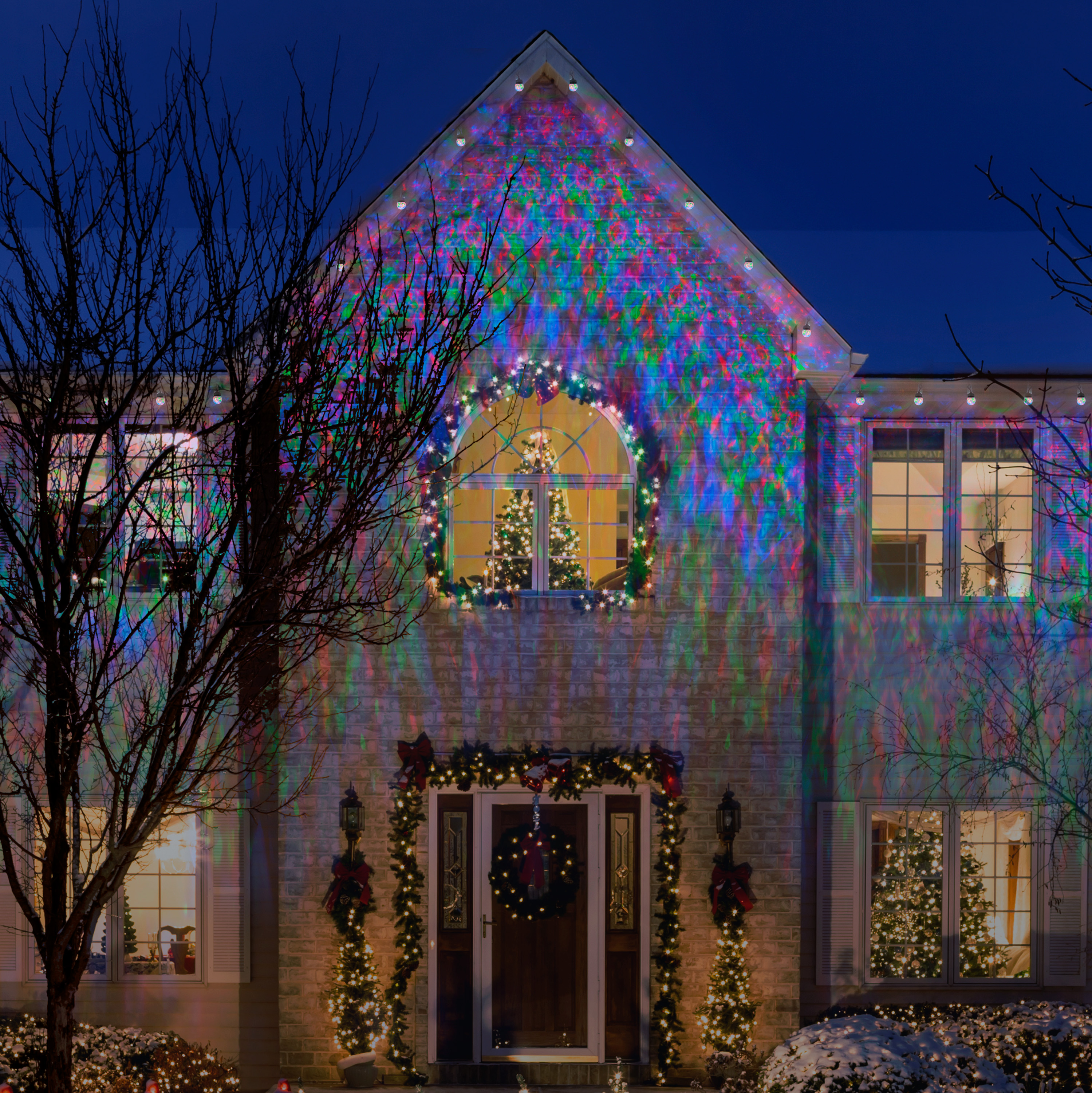 Gemmy Lightshow Christmas Lights 45ct LED Projection Lights with ...