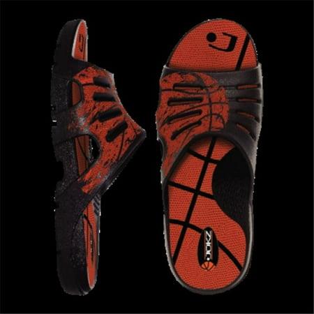 Jukz Sports BK01-XS Basketball Unisex Sports Slides, Extra - Slime Basketball