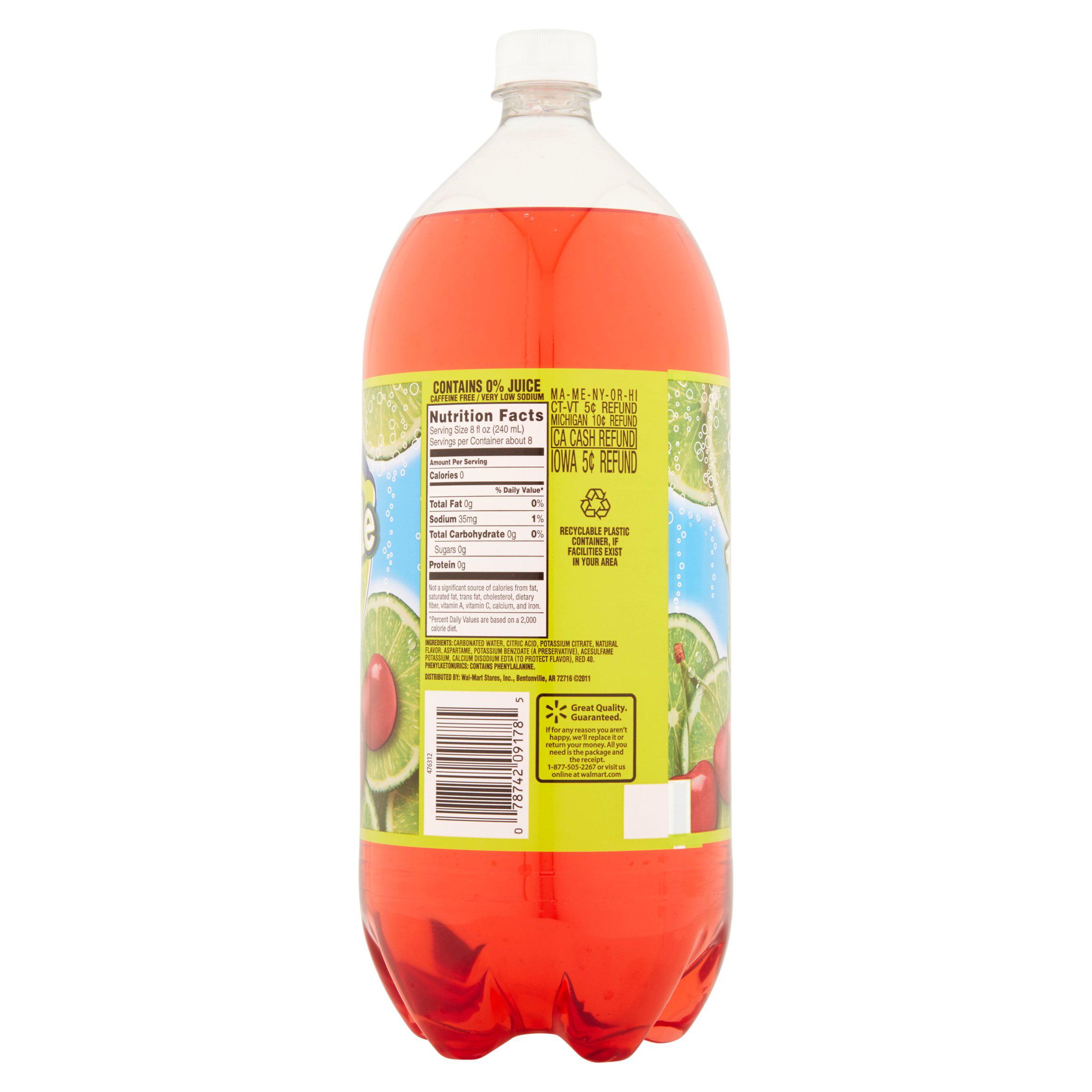 Great Value Sparkling Cherry Limeade Soda 67 6 fl oz Walmart