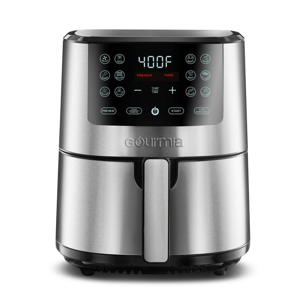 Gourmia 4-Quart Sleek and Durable Stainless Steel Digital Air Fryer
