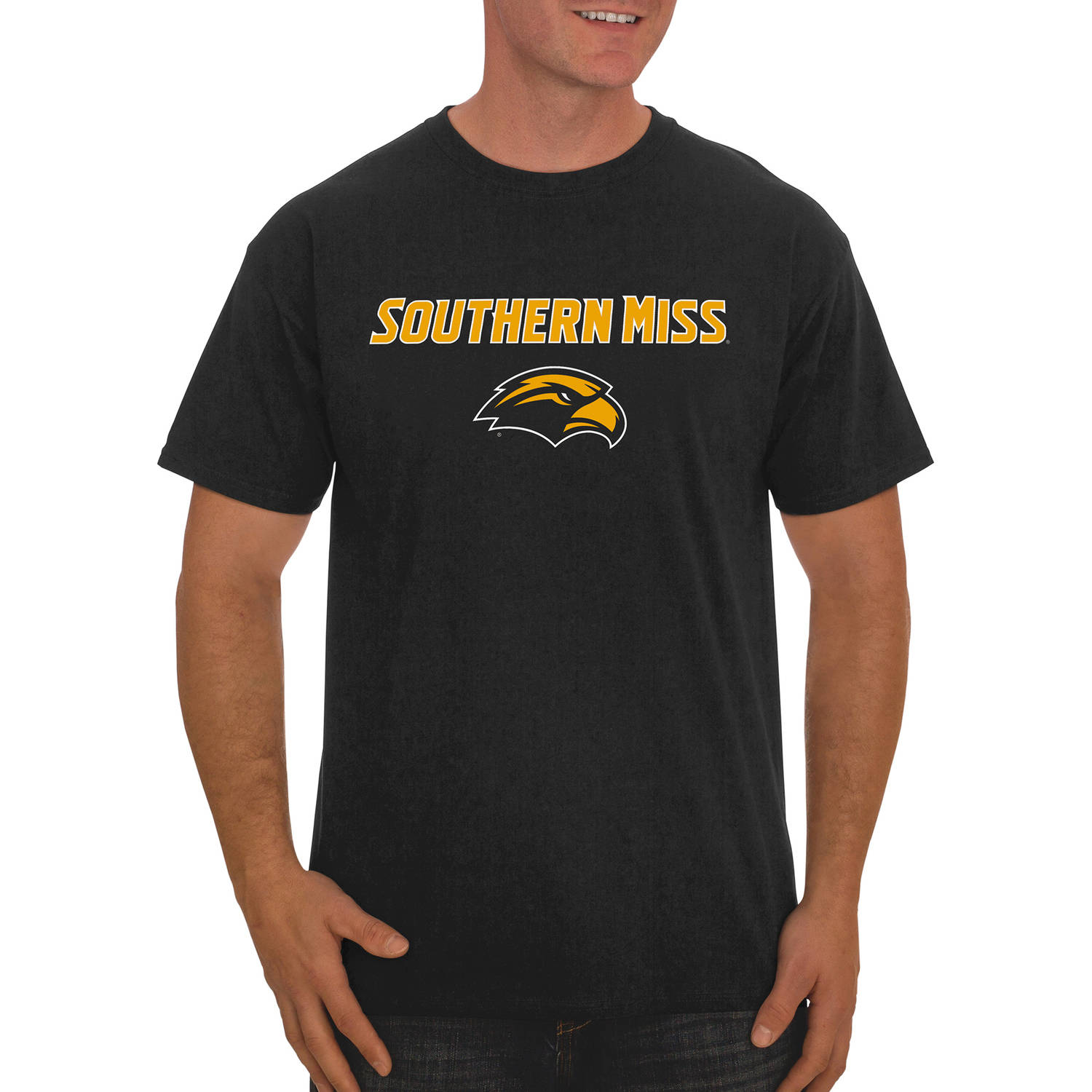 NCAA Southern Miss Golden Eagles Big Men's Classic Cotton T-Shirt