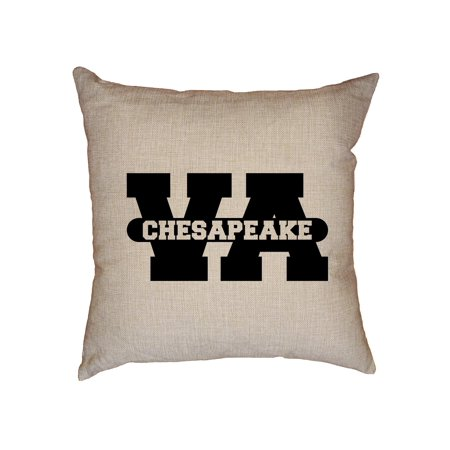 Chesapeake, Virginia VA Classic City State Sign Decorative Linen Throw Cushion Pillow Case with Insert](Party City Chesapeake Va)
