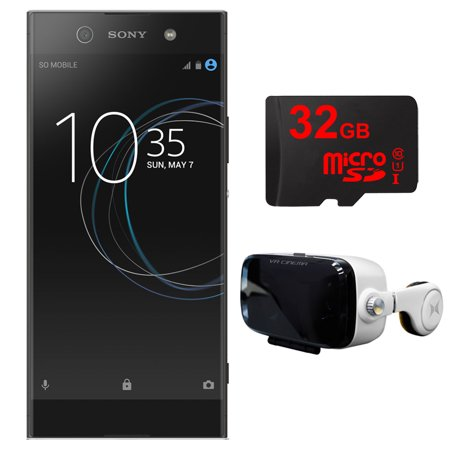- Sony XA1 Ultra 32GB 6-inch Smartphone, Unlocked - Black (1308-0902) w/ VR Accessory Bundle Includes, Virtual Reality Cinema Viewer with Insulated Audio System & 32GB MicroSD High-Speed Memory Card