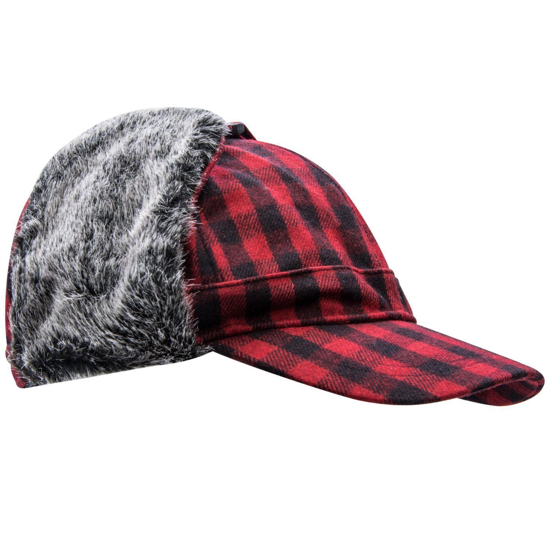 Pierre Cardin Men/'s Big and Tall Trapper Hat w//Flat Brim Hunting Hat Winter Warm