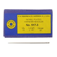 C.S. Osborne Pack Of 25 Harness Needles #517 (517-3) Size 3 Made In USA