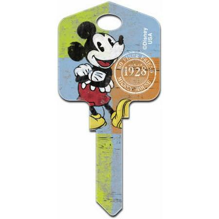 Disney Mickey Mouse 1928 Painted Key Blank, Hillman, 87626